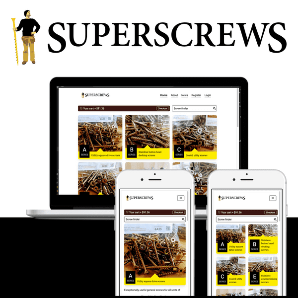Superscrews Website Project