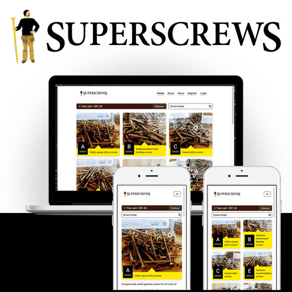 Superscrews 2019 design mockup